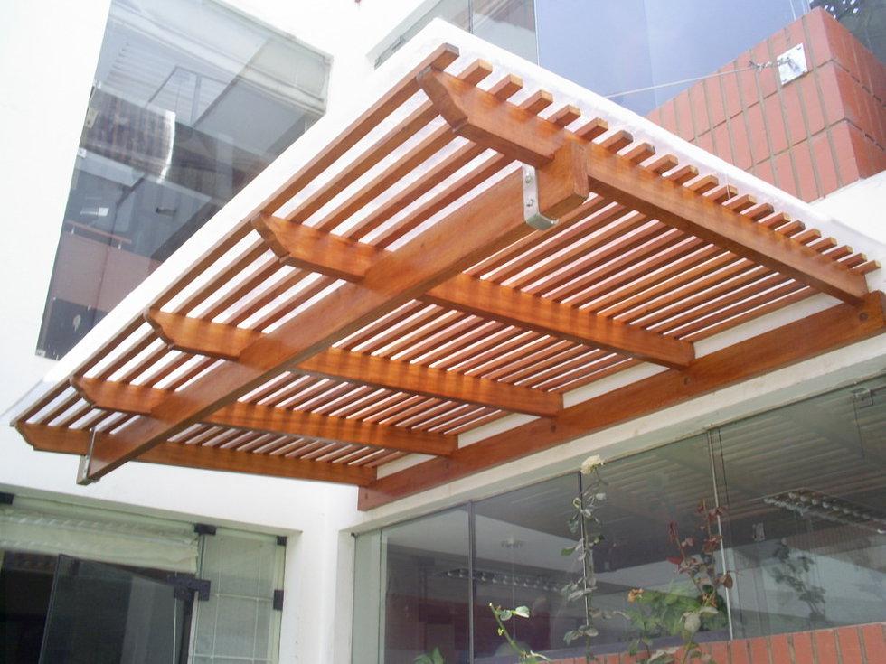 techos escaleras zocalos with techos de madera para terrazas